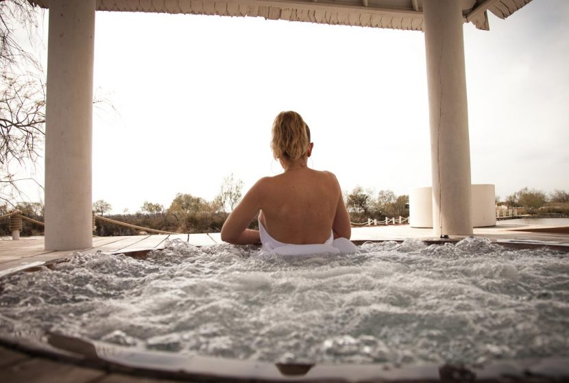 Watch the sunset from the Jacuzzi